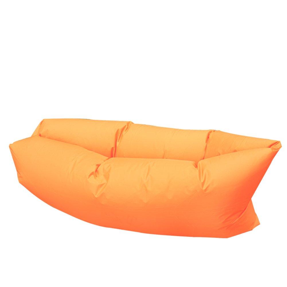KYWBD KYWBD KYWBD Sofá Inflable,Amortiguador de Aire Cama Lazy Cama de Playa Plegable Cama Inflable-Naranja c39a3d