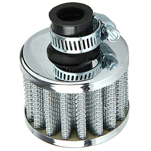 Air Intake Filter - SODIAL(R)Car Motor Cold Air Intake Filter Turbo Vent Crankcase Breather Silver -  SODIAL (R), 076148A4