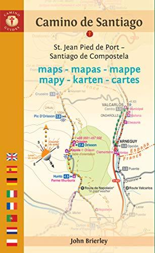 Camino Walk Spain Map.Camino De Santiago Maps St Jean Pied De Port Santiago De Compostela Dutch Edition