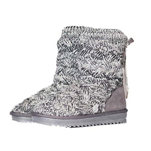 91da2b7b40e516 Creative Snow Boot Laine Ligne Chaussures Plates Daim Femmes Chaud Tricoté  Laine Botte D'hiver