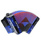 Excalibur Super Classic PSI 3 Row - Button Accordion - Blue/Black - Key of GCF