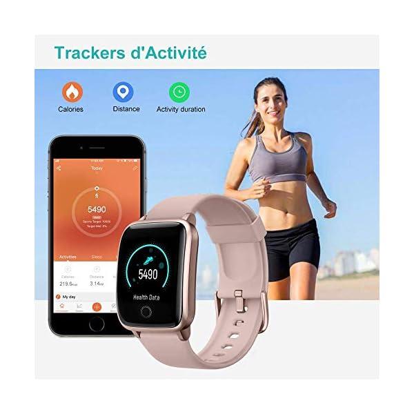 Willful Montre Connectée Femmes Homme Smartwatch Montre Sport Podometre Cardiofrequencemètre Montre Intelligente Etanche…
