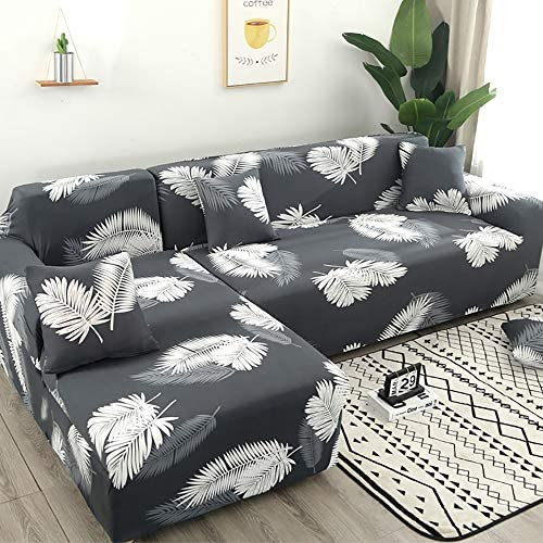 L字 ソファー カバー 左右汎用伸縮ストレッチソファカバー2/3/4人掛け四季通用360°オールインクルーシブデザイン枕カバー付き隙間のあるソファに最適