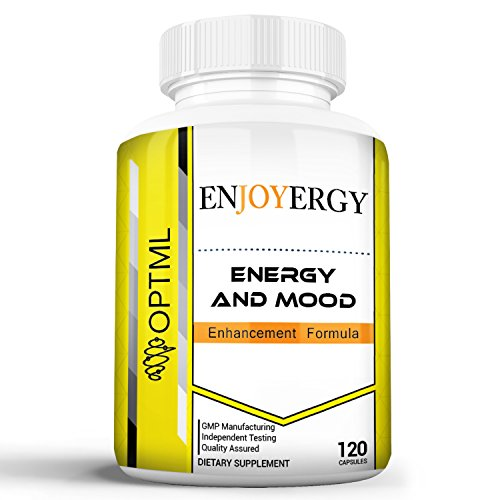 Enjoyergy Caffeine + L-Theanine (120 Capsules) | Energy and Mood Enhancement Formula | Clinically Effective Doses | Increased Happiness and Alertness | Improved Memory and Focus | No Crash or Jitters For Sale