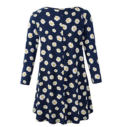 Shirt T Blouse Floral Shirt Innerternet Manches T T Femme Shirt Marine Lache Imprim Longues D't E7qEFnBO