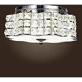 Museum Light Modern Crystal Chandelier Pendant Ceiling Light Lighting Fixture 3 lightsCAA-505/X-3L W9 Silver