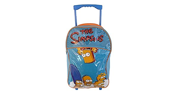 Infantil Grande Premium Simpsons Maleta Trolley de bolsa ...