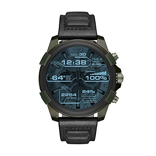 Diesel On Men's Full Guard Stainless Steel IP and Leather...