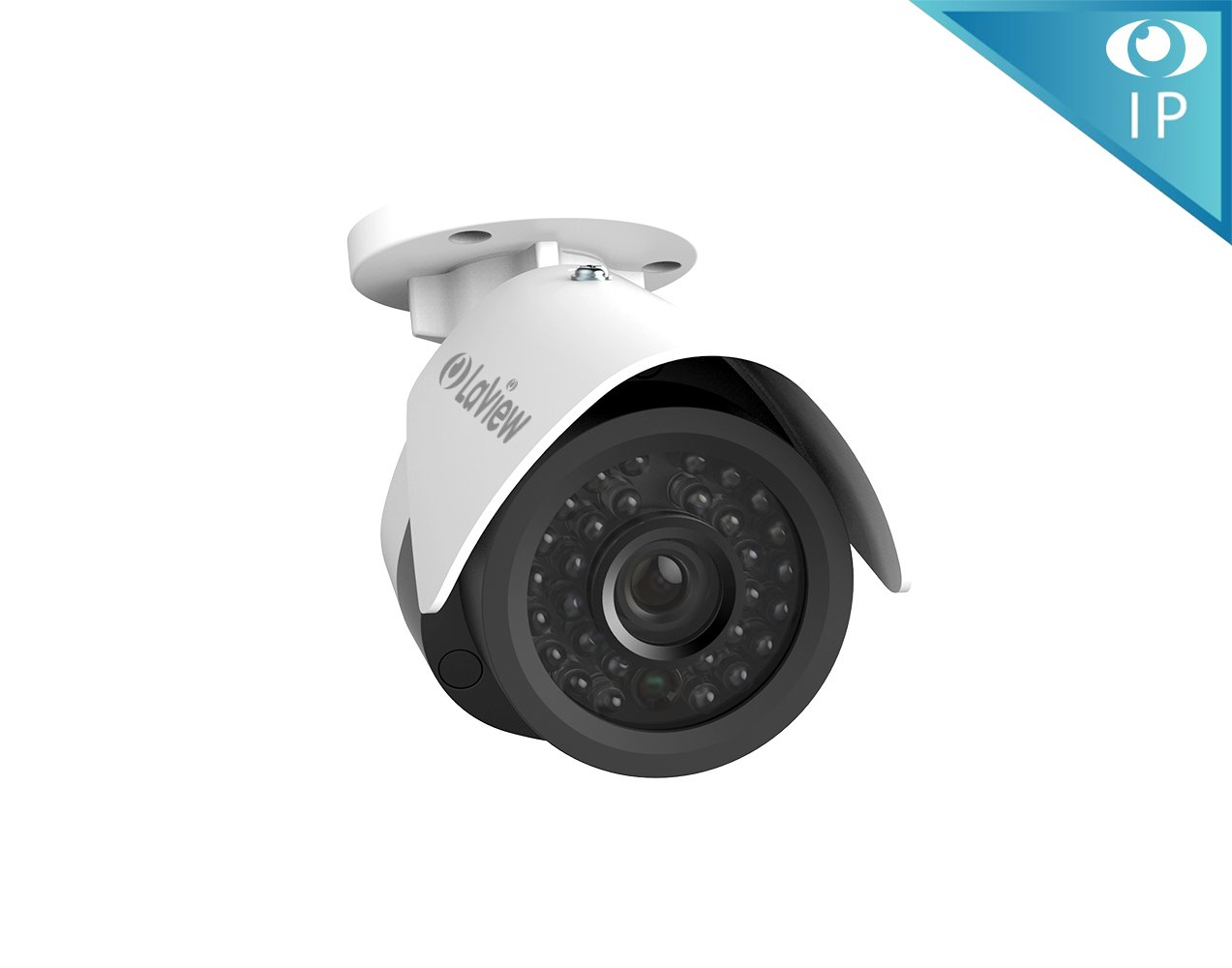LaView 1080P IP 2MP High Resolution, Day and Night, Indoor/Outdoor, White Bullet 4MP Security Combatable System Camera, LV-PB932F4