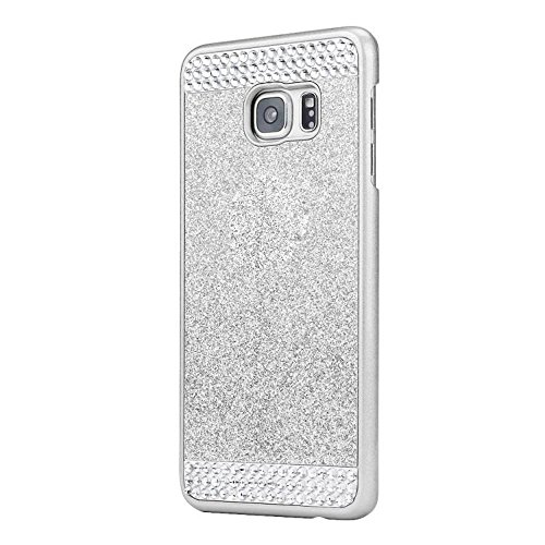 Samsung Galaxy S7 Edge Carrying Case Nice Crystal Rhinestone Case Cover - Ularmo (Silver )