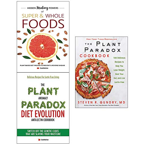 Book cover from Plant paradox cookbook [hardcover] and anomaly diet and hidden healing powers of super 3 books collection set by Dr. Steven R Gundry M.D.