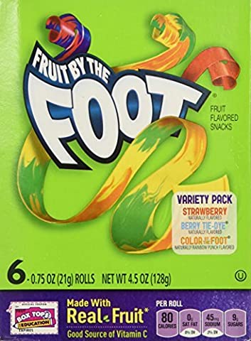 Fruit By the Foot Variety Pack (Strawberry, Berry Tie Dye, Color By the Foot, 6-count Rolls (Pack of 2) by Fruit by the Foot