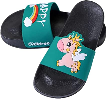 Boys Girls Slide Sandals Cute Fashion Pool Shower Anti-Slip Slide Sandal for Little//Big Kids