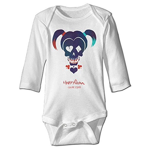 Newborn Baby Boys Cute Funny Toddler Jumpsuit Suicide Squad Harley Quinn White (Kids Harley Quinn Mallet)