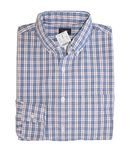 J Crew Factory - Men's - Regular Fit - Plaid Patterned Washed Cotton Shirt (Large) from J.Crew