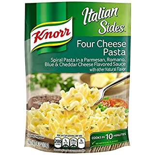 Knorr Italian Sides Pasta Sides Dish For A Tasty Pasta Side Dish Four Cheese No Artificial Flavors 4.1 Oz, 8 Count
