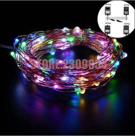 Super Clutch Remote Led String Fairy Lights Outdoor Waterproof Garden Wedding Halloween - Multi Color, UK Plug -