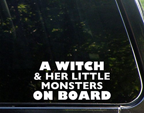 A Witch And Her Little Monsters On Board (7-1/2