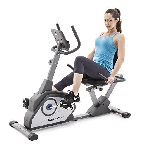 Marcy Magnetic Recumbent Exercise Bike with 8 Resistance Levels NS-40502R by Marcy