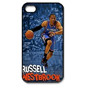 C-EUR Customized Print Russell Westbrook Pattern Back Case for iPhone 4/4S