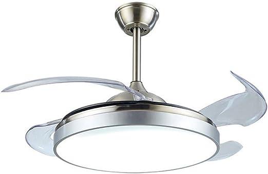 Etelux luz del ventilador de techo, Ventilador de Techo con luz, 107 cm de Diámetro, 65 W, 4 aspas Reversibles, 3 velocidades, 3 colores, Control remoto: Amazon.es: Hogar