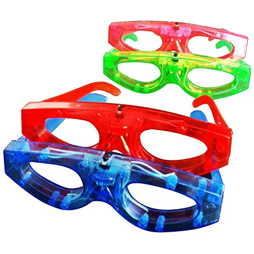 Good Costume Ideas For Teenage Girls (12 Piece Light up Flashing Glasses for Kids Party Favors, (Red, Green, Blue, Pink) Individually Wrapped in Protective Plastic Bags)
