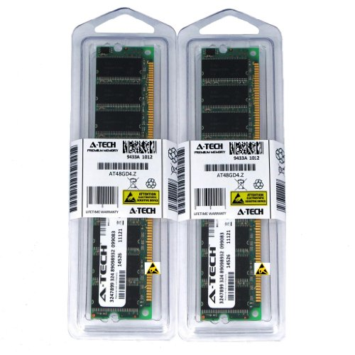 2GB kit (1GBx2) DDR PC2100ECC Registered SERVER Memory Modules (184-pin DIMM, 266MHz) Genuine A-Tech Brand - Dimm 184 Pin Ddr Registered