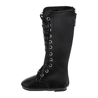 Sharplace Scarpa Stivale Scarpone Talloni Pelle Martin Boots Moda Stile Per 1/3 BJD SD Bambola Accessori Nero