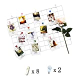 Home And Other Iron Grid Of The Pictures On The Wall Photo Wall Simple Decoration Decorative Plaid Creative Personalized Photo On The Wall Small 65* 45 (WHITE, 25.617.8inch)