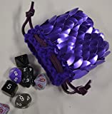 Dice Bag in Knitted Scale Armor - Purple