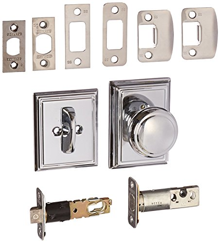 Schlage Lock Company F59AND625ADD Interior Pack Andover Interior Pack Knob Set with Single Cylinder Deadbolt and Decorative Addison Rose