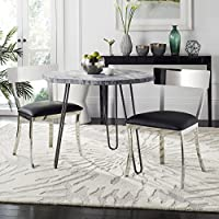 Safavieh American Homes Collection Abby Black 19-inch Side Chair (Set of 2)