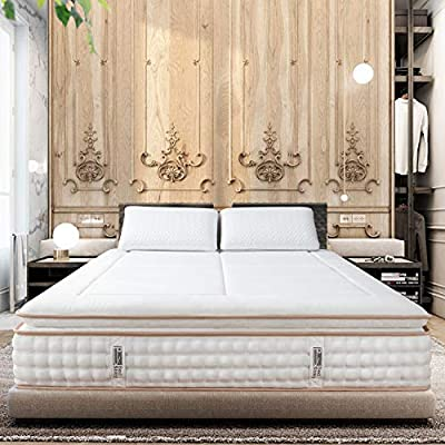"""BedStory 12"""" Luxury Hybrid Mattress, PillowTop Bed Mattresses in A Box Medium Firm - Individually Encased Spring Coils"""