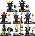 gonggamtop 8 Lot Minifigures Building Blocks Bricks Toys Ninja Ninjago Kai