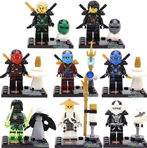 Guy Makes Stick Figure Costume (gonggamtop 8 Lot Minifigures Building Blocks Bricks Toys Ninja Ninjago Kai)