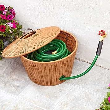 wicker hose storage - Garden Hose Storage