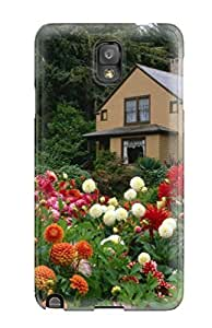 Protective Tpu Case With Fashion Design For Galaxy Note 3 (house)