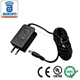 AVACOM AC/DC Adapter, Power Supply, 12V/1A, UL listed, 10ft Cord, 5.5mm x 2.1mm Connector