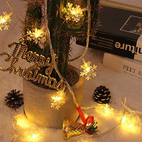 DomeStar Christmas Snowflake String Lights, 10ft 20LED String Lights Snowflake Lights Snowflakes Fairy Lights Christmas Decorations