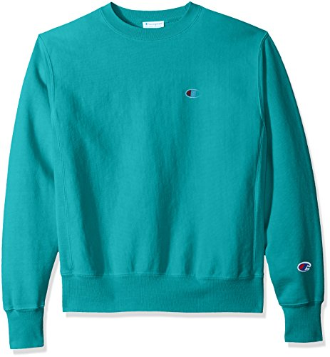 Champion LIFE Men's Reverse Weave Sweatshirt, Vivid Teal Pigment Dyed, (Pigment Dyed Pullover Hoodie)