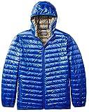 plus size model - The Plus Project Men's Plus Size Lightweight Down Jacket with Hood 4X-Large Blue