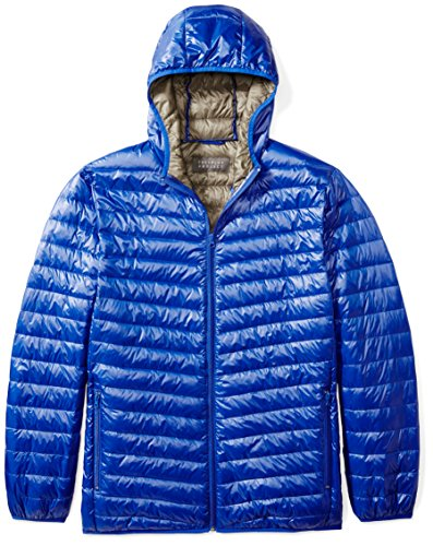 The Plus Project Men's Plus Size Lightweight Down Jacket with Hood 3X-Large (Mens Plus Size)