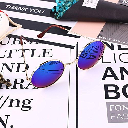 Beautyrain Lunettes de soleil rondes lunettes de soleil lunettes Hommes Unisexe Femmes Sunshading Retro Vintage Durable uwjYtkJw1T