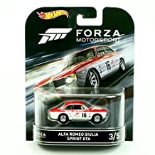 ALFA ROMEO GIULIA SPRINT GTA from the classic video game FORZA MOTORSPORT Hot Wheels 2016 Retro Entertainment Series 1:64 Scale Die Cast Vehicle (#3 of 5) by Retro Series
