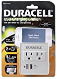 Duracell Dual Surge USB Charger Outlet for iPhone 3G/3GS/4/4s - Retail Packaging - White