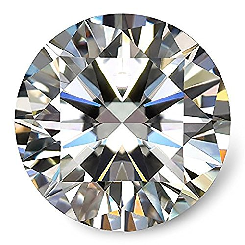 Diamond Round Loose Diamonds (KIMANA GH Colorless Simulated Diamond Moissanite Loose Stone, Excellent Cut Round Brilliant VVS Clarity (6.5mm (1.00 Ct D.E.W)))