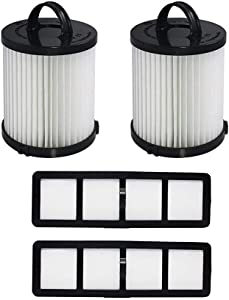 Fette Filter - Vacuum Filter Compatible with Eureka DCF-21 - Pack of 2 (DCF-21 & EF-6)
