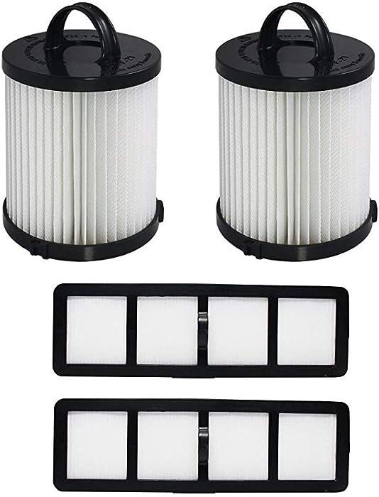 Fette Filter - Vacuum Filter Compatible with Eureka DCF-21 - Pack of 2 (DCF-21 & EF-6)