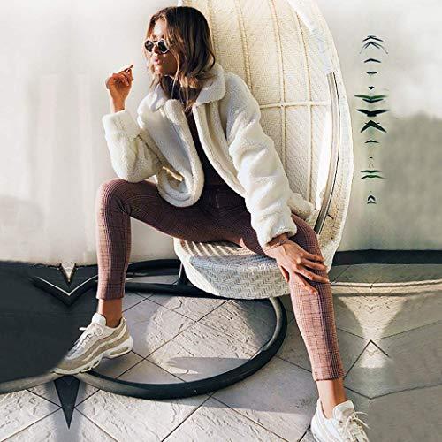 Capispalla Corto Cerniera Elegante Caldo Giacche Shallgood Modo Cappotti In Bianca Strada Inverno Di Giacca Donna Peluche Stile twnSCnyqX