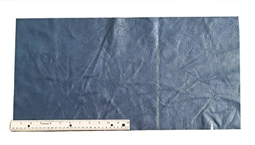 Upholstery Leather Piece Cowhide Navy Blue, 12